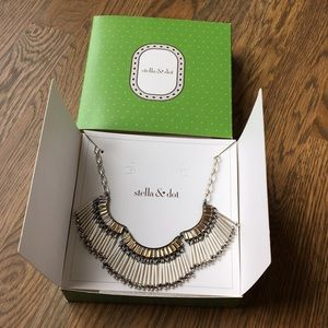 New in Box Stella and Dot Twilight Fringe Necklace